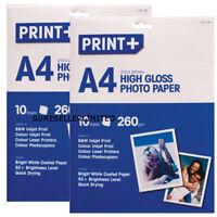 20 x SHEETS A4 HIGH GLOSS PHOTO PAPER INKJET PRINTER GLOSSY WHITE WATERPROOF