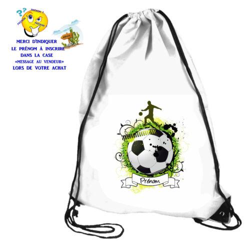 Sac de piscine sac de gym sport foot personnalisable avec prénom réf 63