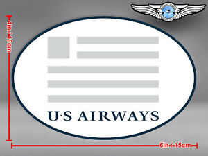 US AIRWAYS OVAL LOGO STICKER / DECAL