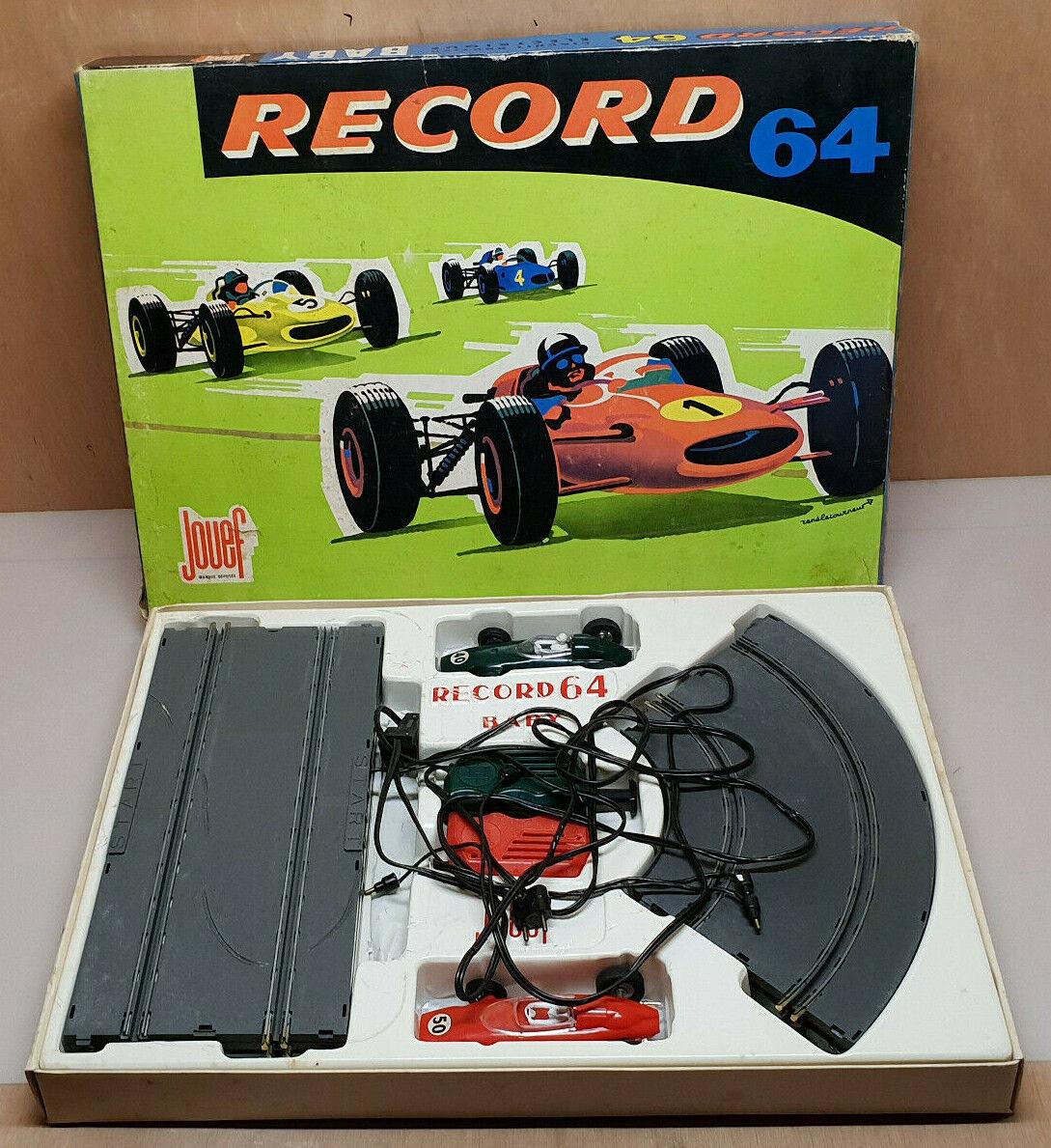 Ancien coffret boite Ref  394 Jouef Record 64 Circuit course BaBy ferrari & BRM