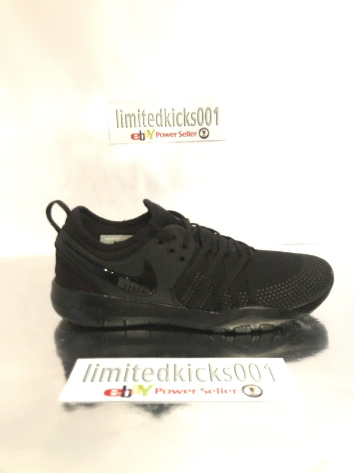 Nuevo Y En Tr Caja Nike Free Tr En 7 Triple Negro Gimnasio De Entrenamiento Zapatillas para mujer 29a449