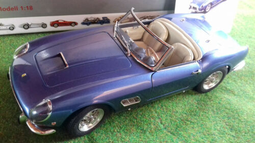 Ferrari 250 California Swb 1960 Bleu Convertible Avec Hard Top Ble 1/18 Cmc M092