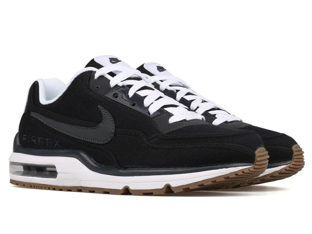Nike Air Max LTD 3 TXT Black White Anthracite Gum Denim Canvas 746379-001 Sz 8