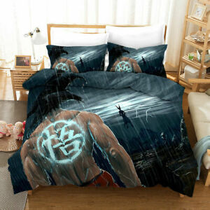 Dragon Ball Z Goku 3PCS 3D Bedding Set Duvet Cover Pillowcases