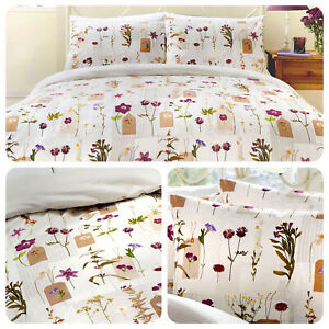 Dreams-amp-Drapes-PRESSED-FLOWERS-Multicolour-Duvet-Cover-Set-Pillowcases