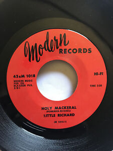 LITTLE-RICHARD-45-Holy-Mackeral-Baby-Don-039-t-You-MODERN-RECORDS-Original-7-034