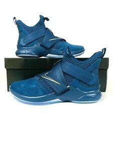 02311c339a3f Nike Lebron Soldier XII SFG Agimat Mens AO4054-400 Blue Aegean Shoes ...