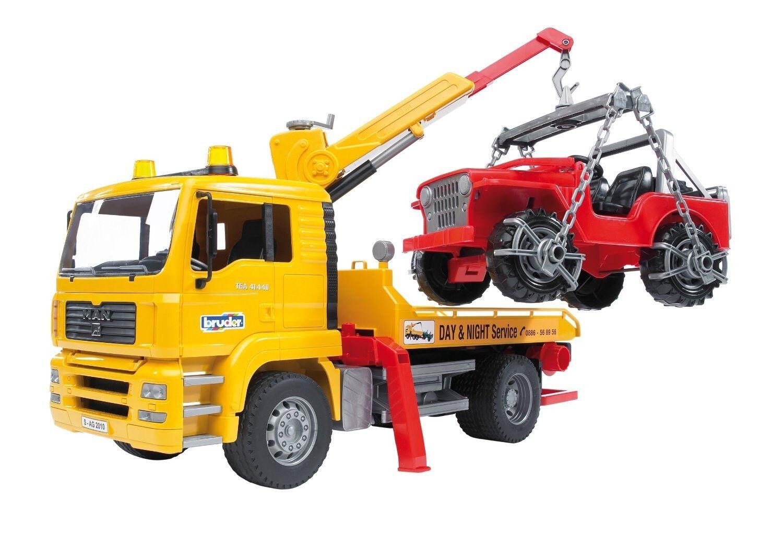 BRU2750 - Camion 4x2 MAN TGA dépannage avec Jeep jouet BRUDER - 1 16