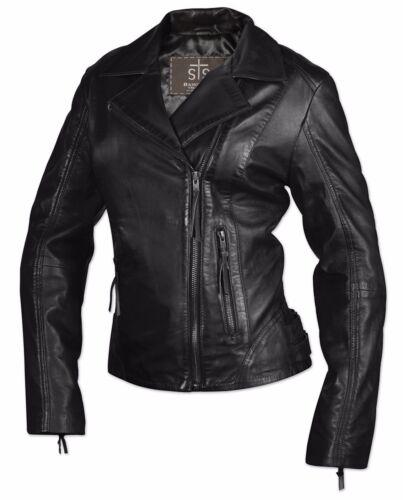 Bramble Jacket Xl Sts Ranchwear Leather Black New Kvinders Størrelse BSqwzt