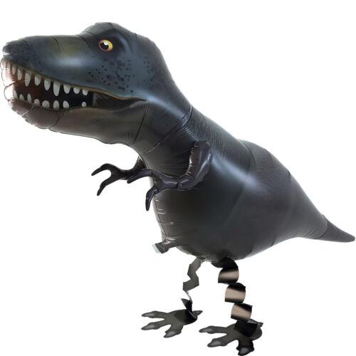 Helium gefüllt Folienballon laufender Ballon Dinosaurier T-Rex schwarz