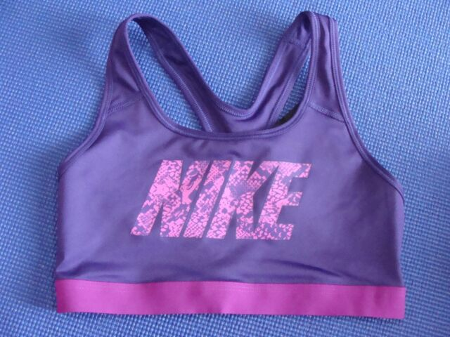 5b30c929ad Nike Pro Women s Core Sports Bra Vivid Purple Pink Size Small S ...