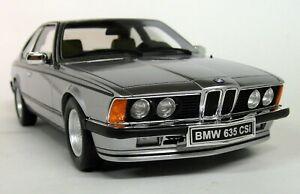 Otto-1-18-Scale-BMW-635-CSi-Metallic-Silver-E24-Resin-Model-Car