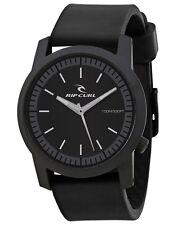 Rip Curl Cambridge ABS Silicone A2698-BLK Black Analog Quartz Watch NEW