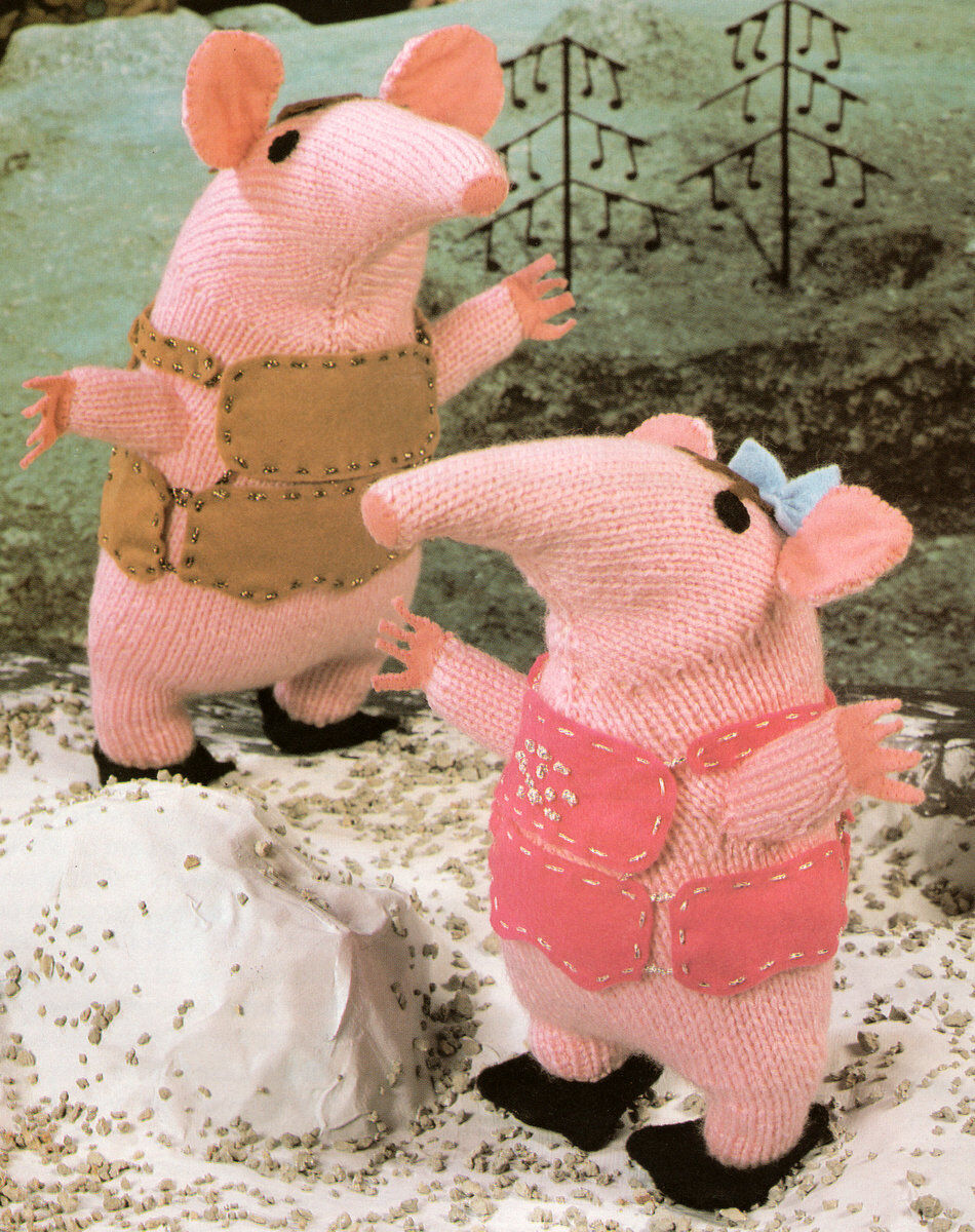 Clangers Toy ~ DK Knitting Pattern ~ Small & Large Clanger ...