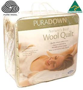 Puradown-100-Australian-Wool-500gsm-Doona-Duvet-Quilt-KING-QUEEN-DOUBLE-SINGLE