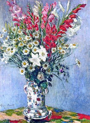 Claude Monet Bouquet canvas print giclee 8X12&12X17 reproduction painting