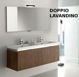 Mobile bagno moderno doppio lavandino vari colori go10b ebay - Mobile bagno con lavandino ...