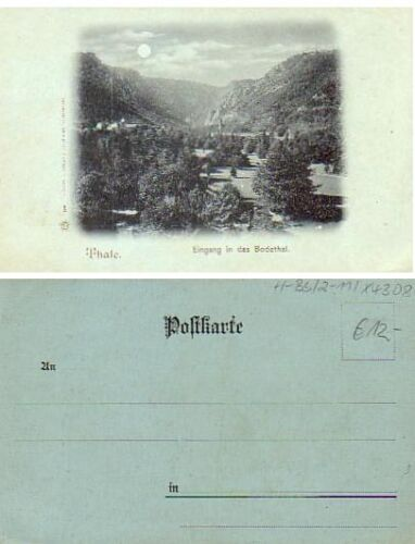 Bodethal View, Moonlight, 1900s, Germany
