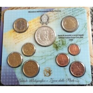 ITALIE 2006 B.U SERIE 8 Monnaies + 5 Euro Argent