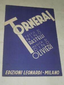 SPARTITO-MUSICALE-DEL-1957-034-TORNERAI-034-RITMO-LENTO-EDIZIONI-LEONARDI-MILANO