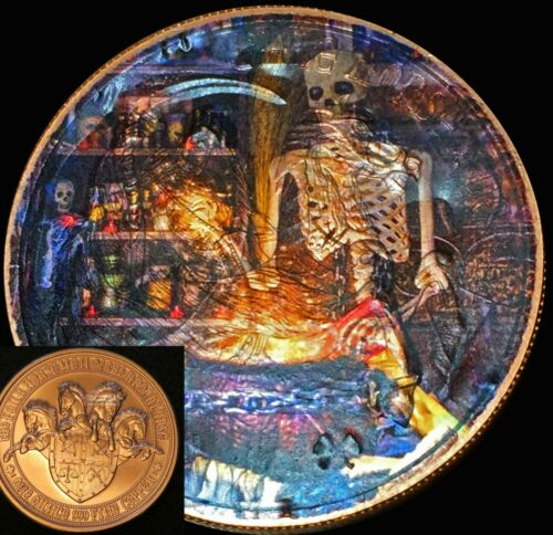 Wicked Skeleton Stew on a Pale Horse of Death 1 oz.COPPER COIN Limited Edition!