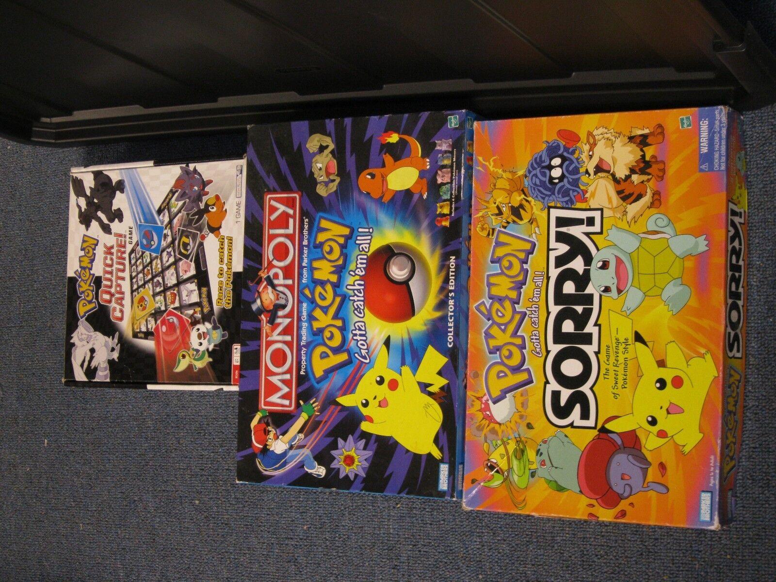 Monopolio de Pokemon Collector's Ed Pokemon Quick Capture lo sentimos sentimos sentimos Juegos de pokemon  auténtico