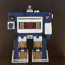 """Vintage Transformers 12"""" Soundwave Battery Operated Cassette Player ~1985 Hasbro"""