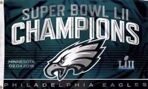 48c479fc208 Philadelphia Eagles Flag Banner SUPER BOWL 52 LII Champions 2018 3X5 ...