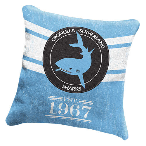 Cronulla Sharks NRL HERITAGE Cushion fabric ow Christmas Birthday Gift