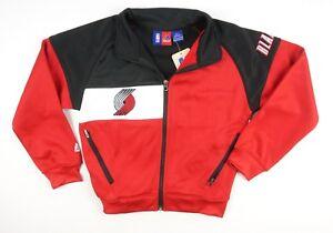 NEW-MAJESTIC-BOYS-NBA-RED-BLACK-PORTLAND-TRAIL-BLAZERS-TRACK-JACKET-SIZE-S