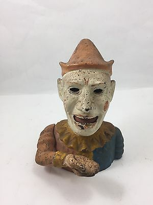 Clown Mechanical Coin Bank Cast Iron