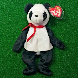 Ty Beanie Baby Fortune The Panda Bear 1997 Low Production RETIRED ... f799d68b6a7e
