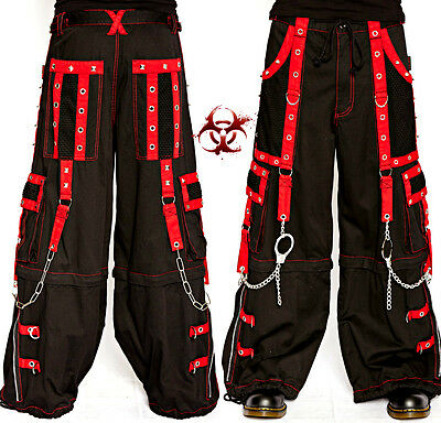 TRIPP BONDAGE GOTHIC CYBER CHAIN RAVE PUNK TECHNO GOTH ROCK SHORTS PANTS AF7548M
