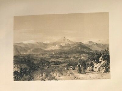 Other Art Independent Pyrenees From Bayonne .george Vivian Lithography Original.londres 1838 Elegant In Smell