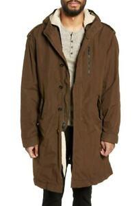 John-Varvatos-NEW-Green-Mens-Size-2XL-Sherpa-Lined-Longline-Coat-590-902