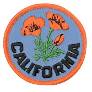 California-Poppy-Patch-2-5-034-Official-Flower-of-CA-Embroidered-Iron-or-Sew-on