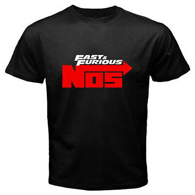 New NOS Nitrous Oxide Systems Fast and Furious Men's Black T-Shirt Size S to 3XL
