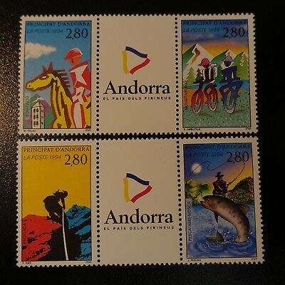 In Workmanship Devoted Andorra French N°447/450b Tourism And Sport Neuf Luxe Mnh Exquisite