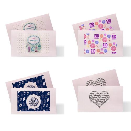 Personnalisé Eid Moubarak Ramadan Eidi Cadeau d/'Argent Enveloppes Portefeuille Cas D4