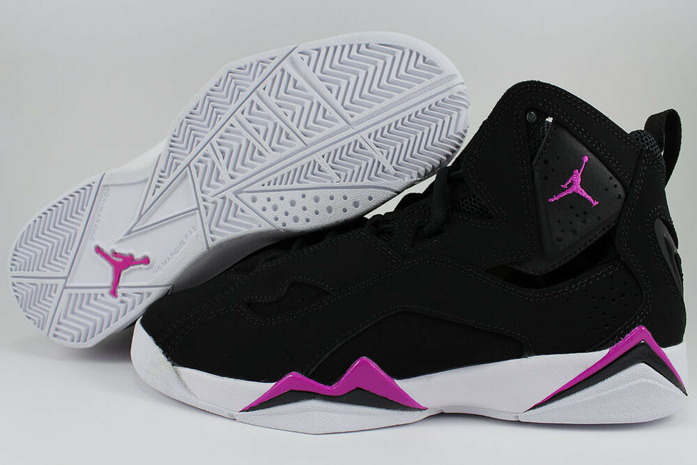 outlet store sale cb67c 90b62 NIKE AIR JORDAN TRUE FLIGHT NoirFUCHSIA Rose GIRLS PURPLE WOMEN GIRLS Rose  RETRO YOUTH
