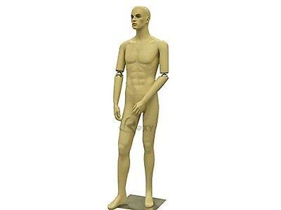 Male Fiberglass Mannequin Manequin Manikin Dress Form Display #HMB2F