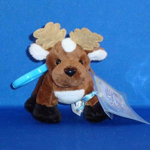 New w//Unused Code Tag Kinz Klip Reindeer Webkinz Virtual Pet Plush