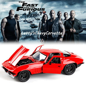 1-24-FAST-AND-FURIOUS-8-LETTY-039-S-CHEVY-CORVETTE-DIECAST-CAR-MODEL-VEHICLE-KID-TOY