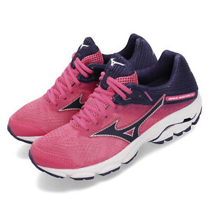 Mizuno-Wave-Inspire-15-Pink-Navy-Purple-Women-Running-Shoes-Sneakers-J1GD1944-28