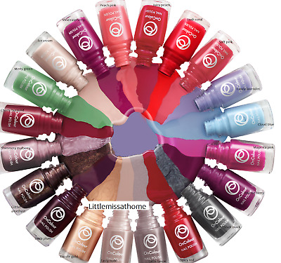 Oriflame Oncolour Nail Polish Shine Shimmer Red Pink Coral Gold Plum Blue Green Ebay