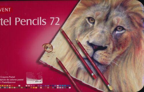 Derwent 12 24 36 72 Pastel Pencils tin case NEW woodcased