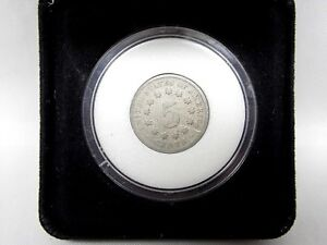 1869-U-S-Shield-Nickel-5-Cent-Piece-Old-Type-Coin