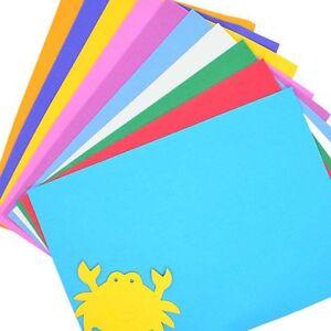 10Pc Colorful Kids Handmade DIY Hand Craft Sponge EVA Foam Paper Random
