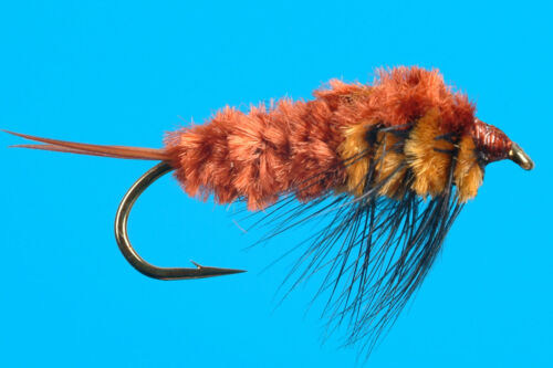 6 pcs Ted/'s Stonefly weighted size 8