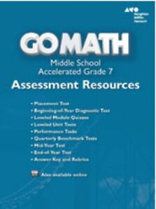 Details about Grade 7 Go Math Accelerated Assessment Resources with Answers  Middle School 7th